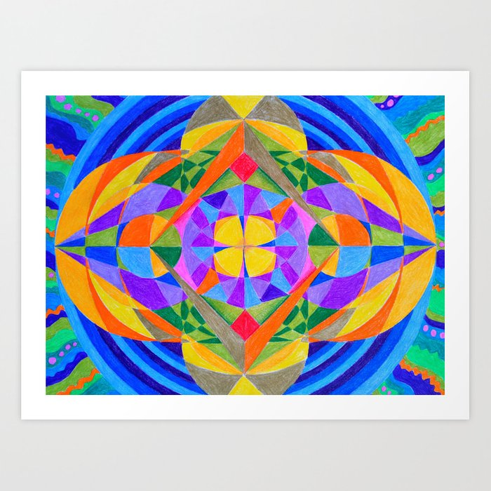 Geometric Meditation Mandala Art Print