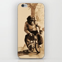 Bicycle Monkey iPhone Skin