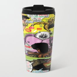 Space Chick & Nympho: Vampire Warrior Party Girl Comix #2 - Comic Book Cover Travel Mug