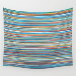 Colorful lines summer pattern Wall Tapestry