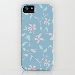 Floral Clematis Vine - Cool Summer iPhone Case
