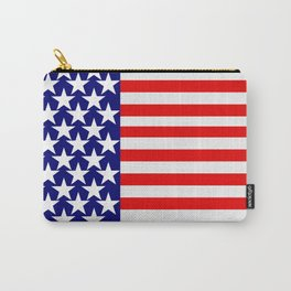 Patriotic Stars and Stripes Carry-All Pouch