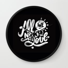 ALL WE NEED IS SOUL Wall Clock