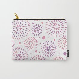 Abstract watercolor sparkles – pastel pink and ultra violet Carry-All Pouch