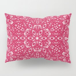 Ornament, abstract, Milena 2, pink, white Pillow Sham