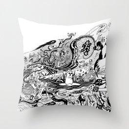 A Shot of Imagination Throw Pillow