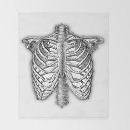 Vintage Skeleton Throw Blanket