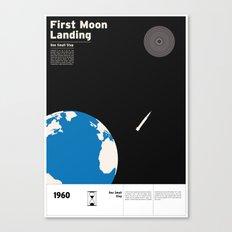 First Moon Landing Apollo 11 Canvas Print