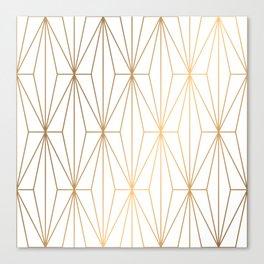 Gold Geometric Pattern Illustration Canvas Print