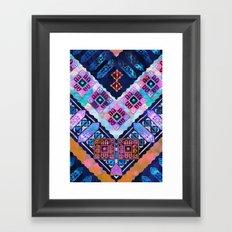 Mavis Chevron Framed Art Print