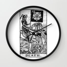 Death Tarot Card - Major Arcana - fortune telling - occult Wall Clock