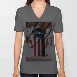 Puerto Rico Flag Unisex V-Ausschnitt