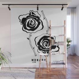 Black Roses Wall Mural