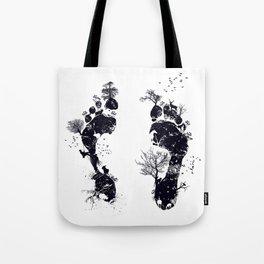 Nature's footprint Tote Bag