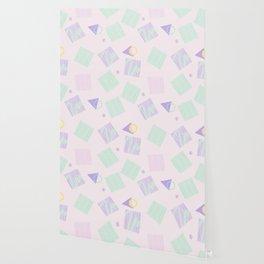 Geometric objects in pastels Wallpaper