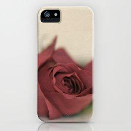 Single Rose fine art photography iPhone Case