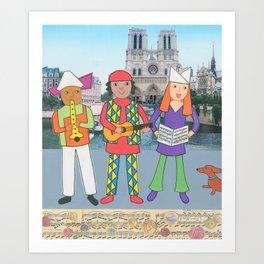 Suzette's Musicians Art Print