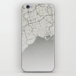 Toronto - Vintage Map and Location iPhone Skin
