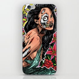 BEAUTIFUL AND FLOWERS iPhone Skin