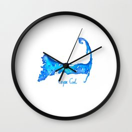 Cape Cod with Text Wall Clock