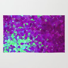 purple and teal abstract shapes Rug