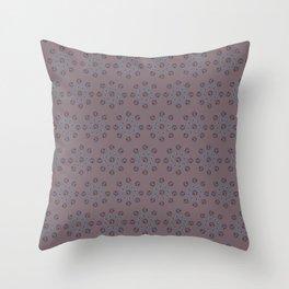 Douceur d'hiver, mauve/Sweetness of winter, purple Throw Pillow
