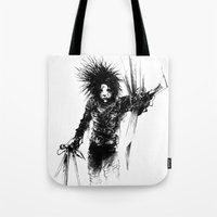 edward scissorhands Tote Bags featuring Edward Scissorhands by Karbon-K