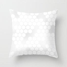 Grey Honey Comb Throw Pillow