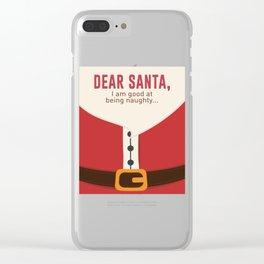 Dear Santa Good Bad Nice Naughty List Funny Design Clear iPhone Case