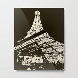 Eiffel Tower, Paris in black and white Metal Print