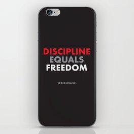 """""""Discipline Equals Freedom"""" Jocko Willink iPhone Skin"""