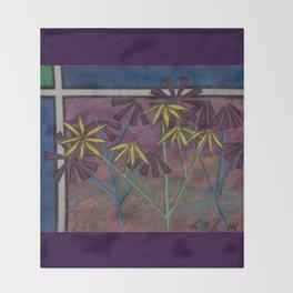 Kokum Flowers #17 Throw Blanket