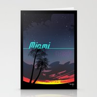 miami Stationery Cards featuring Miami by Nioko