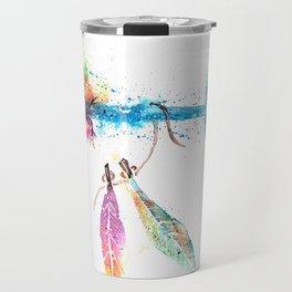 Boho Chic Watercolor Travel Mug