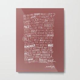 Quote wallpaper Metal Print