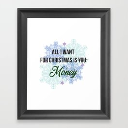 all i want for x-mas is... Framed Art Print