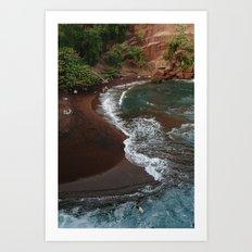 Maui in Red Art Print