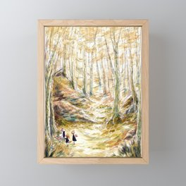 Into the Woods - Parsley Merlin and Beatrice Page Framed Mini Art Print