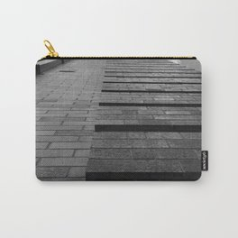Vertical Brick Wall Architectural Photographic Print Carry-All Pouch