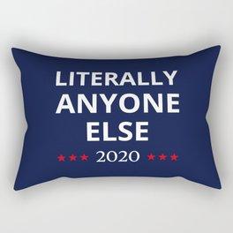 Election 2020, Anti-Trump - Anyone Else II Rectangular Pillow