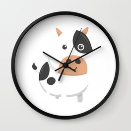 Adorable Cow & Cute Baby Calf Cow Lovers Wall Clock