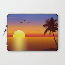 Sunset at tropical beach Laptop Sleeve