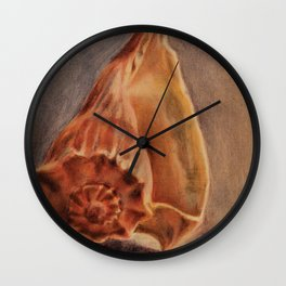 Counch Shell Wall Clock