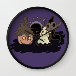 Ghostly Nap Wall Clock
