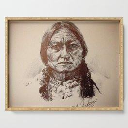 Sitting Bull Serving Tray