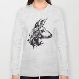 Deer with floral ornamentation Long Sleeve T-shirt