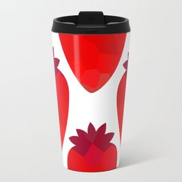 Low poly strawberries Travel Mug