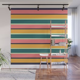 GREEN MIX STRIPES Wall Mural