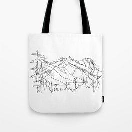 Squamish Summits :: Single Line Tote Bag