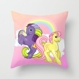 g2 my little pony Firefly and Sky Skimmer Throw Pillow